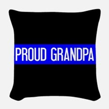 Police: Proud Grandpa (The Thi Woven Throw Pillow