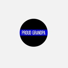 Police: Proud Grandpa (The Mini Button (100 pack)