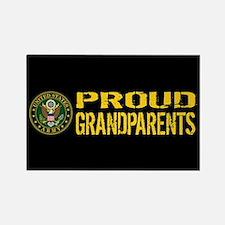 U.S. Army: Proud Grandparents (Bl Rectangle Magnet