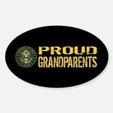 U.S. Army: Proud Grandparents (Blac Decal