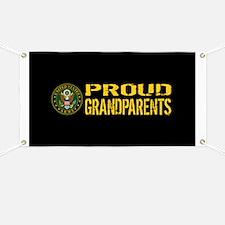 U.S. Army: Proud Grandparents (Black & Gold Banner