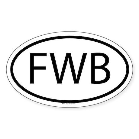 FWB Oval Sticker