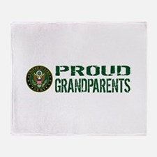 U.S. Army: Proud Grandparents (Green Throw Blanket