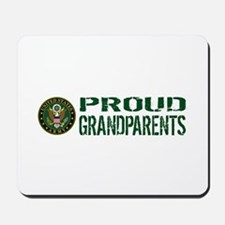U.S. Army: Proud Grandparents (Green & W Mousepad