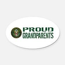 U.S. Army: Proud Grandparents (Gre Oval Car Magnet