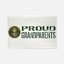 U.S. Army: Proud Grandparents (Gr Rectangle Magnet