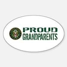 U.S. Army: Proud Grandparents (Gree Sticker (Oval)
