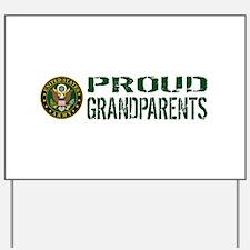 U.S. Army: Proud Grandparents (Green & W Yard Sign