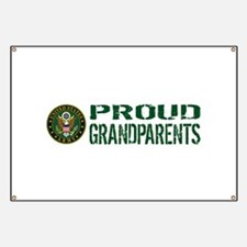 U.S. Army: Proud Grandparents (Green & Whit Banner