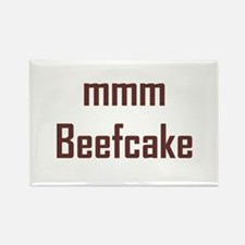 mmm, Beefcake! Rectangle Magnet