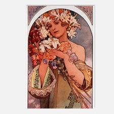 Woman Of Mucha Postcards (package Of 8)