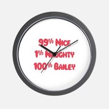 Bailey - 1% Naughty Wall Clock