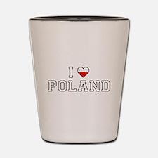 I Love Poland Shot Glass