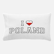 I Love Poland Pillow Case