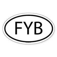 FYB Oval Decal