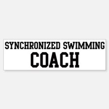 SYNCHRONIZED SWIMMING Coach Bumper Bumper Bumper Sticker