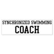 SYNCHRONIZED SWIMMING Coach Bumper Bumper Sticker