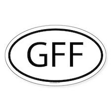 GFF Oval Decal