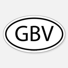 GBV Oval Decal