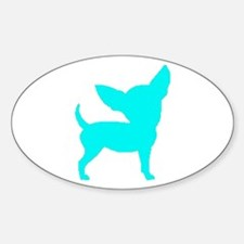 Chihuahua Two Lt Blue 1C Decal