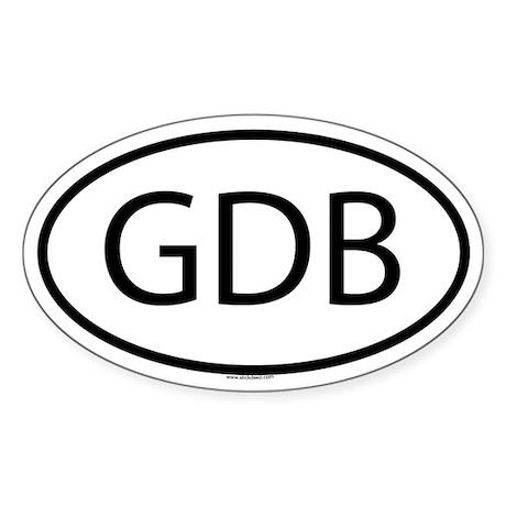 GDB Oval Sticker
