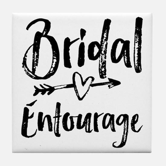 Bridal Entourage - Bride's Entourage Tile Coaster