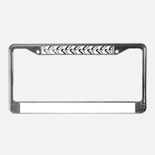 Tractor Tread Grunge License Plate Frame