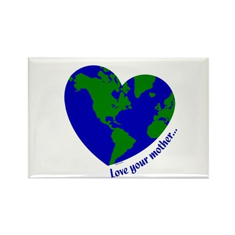 Love Your Mother Rectangle Magnet (100 pack)