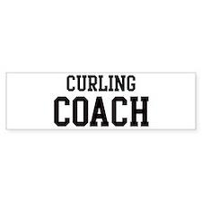 CURLING Coach Bumper Bumper Sticker