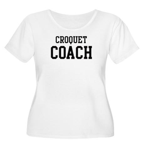 CROQUET Coach Women's Plus Size Scoop Neck T-Shirt