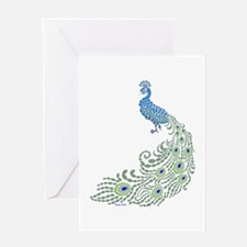 Jeweled Peacock Greeting Cards