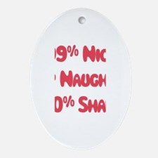 Shawn - 1% Naughty Oval Ornament