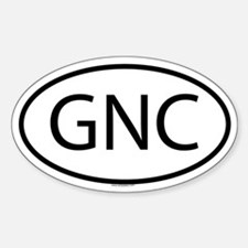 GNC Oval Decal