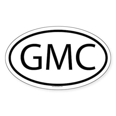 GMC Oval Sticker