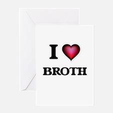 I Love Broth Greeting Cards