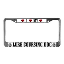 Lure Coursing Dog License Plate Frame