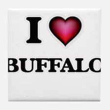 I Love Buffalo Tile Coaster