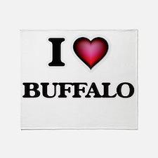 I Love Buffalo Throw Blanket