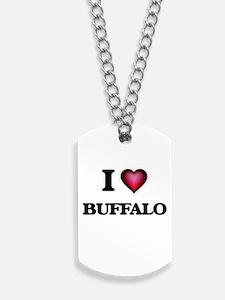 I Love Buffalo Dog Tags