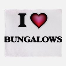 I Love Bungalows Throw Blanket