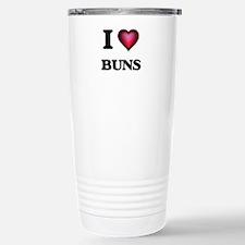 I Love Buns Stainless Steel Travel Mug