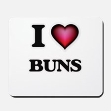 I Love Buns Mousepad