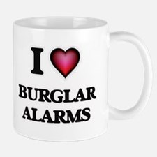 I Love Burglar Alarms Mugs