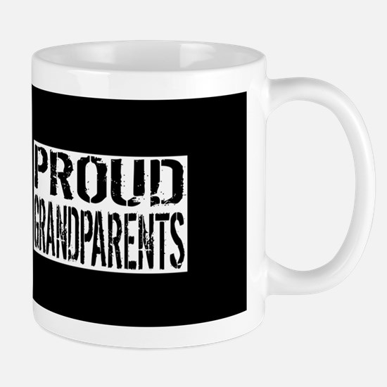 Firefighter: Proud Grandparents (Black Mug