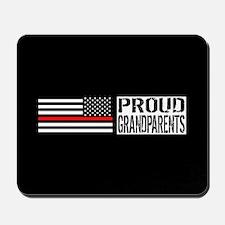 Firefighter: Proud Grandparents (Black F Mousepad