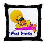 Duck Wear Throw Pillow
