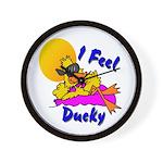 Duck Wear Wall Clock