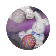 "Ostara ""Easter"" Bunny w/ Ball Keepsake (Round)"