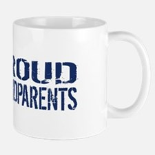 U.S. Navy: Proud Grandparents (Blue & W Mug