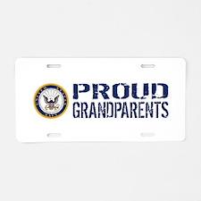 U.S. Navy: Proud Grandparen Aluminum License Plate